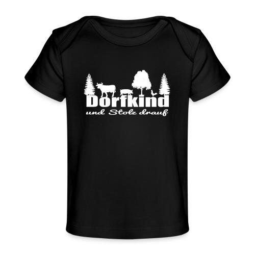 Stolz darauf ein Dorfkind zu sein - Baby Bio-T-Shirt