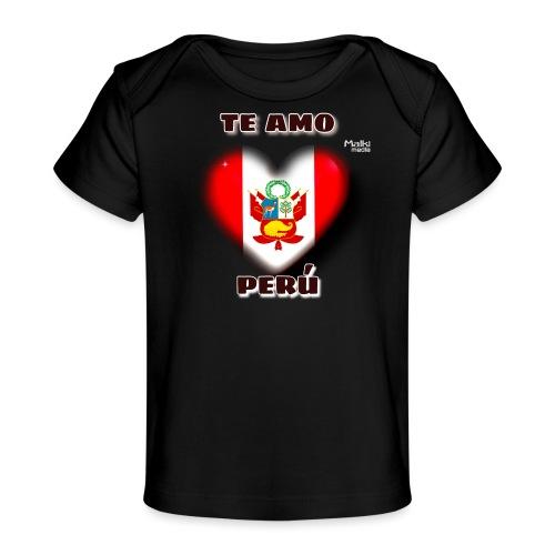 Te Amo Perú Corazón - Camiseta orgánica para bebé
