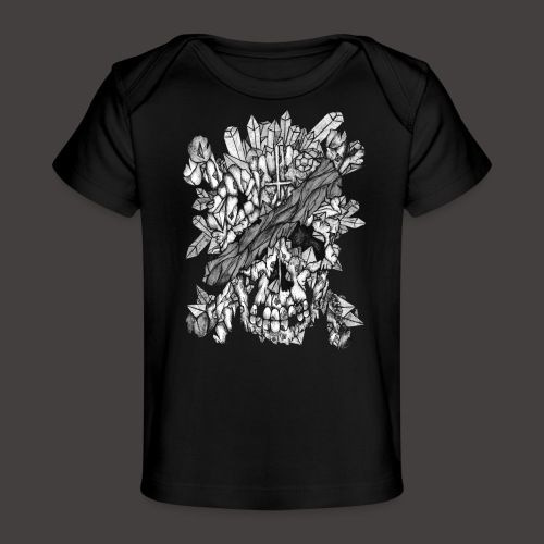 Crane de Pirate de Cristal Noir et Blanc - T-shirt bio Bébé