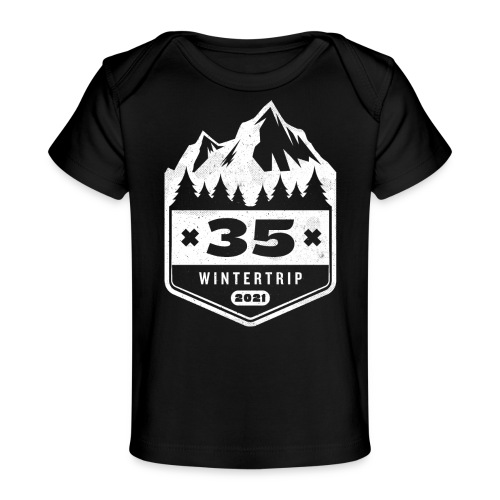 35 ✕ WINTERTRIP ✕ 2021 - Baby bio-T-shirt