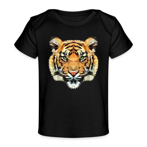 Tiger Polygon wild schwanger Geschenk Babybauch - Baby Bio-T-Shirt