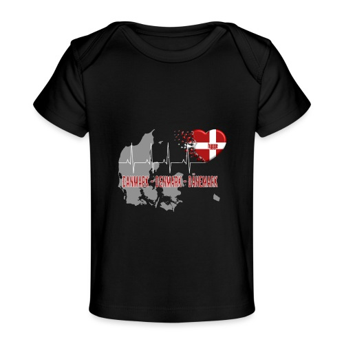 Dänemark Denmark Danmark Hygge Herzschlag EKG - Baby Bio-T-Shirt