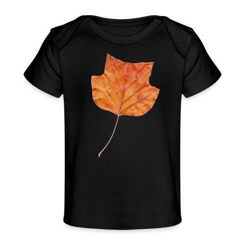 Herbst-Blatt - Baby Bio-T-Shirt