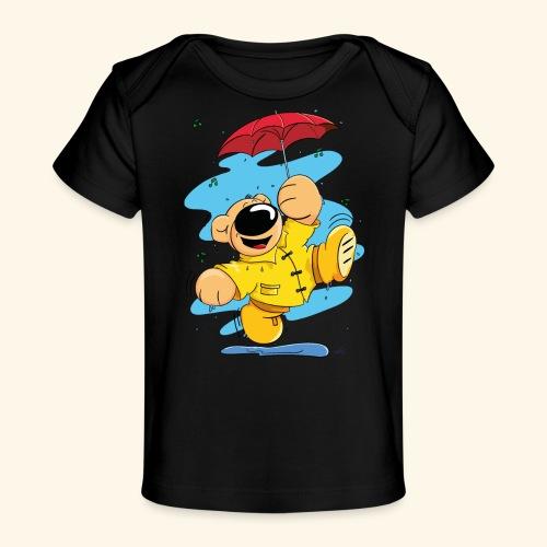 Der Bär tanzt im Regen - Baby Bio-T-Shirt