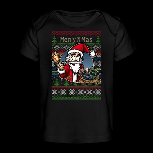 Merry X-Mas Weihnachtsmann - Baby Bio-T-Shirt