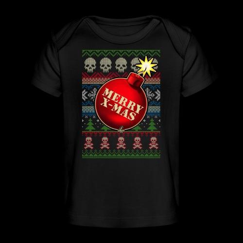 Merry X-Mas Christbaumkugel-Bombe - Baby Bio-T-Shirt