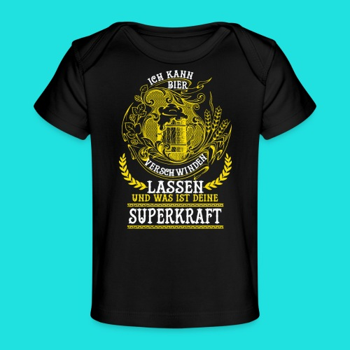 Bier Superkraft - Baby Bio-T-Shirt