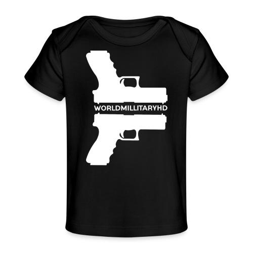 WorldMilitaryHD glock design (white) - Baby bio-T-shirt