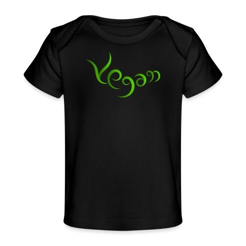 Vegaani käsinkirjoitettu design - Vauvojen luomu-t-paita
