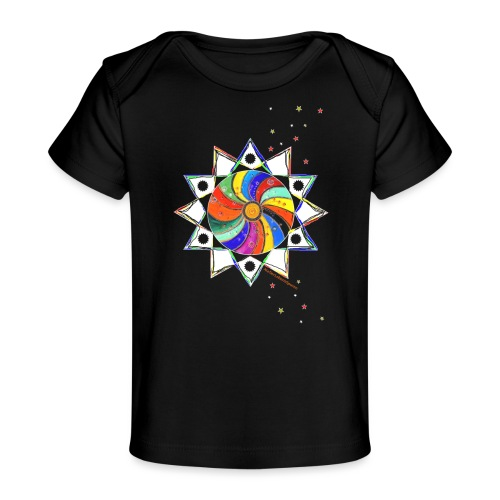 Bunter Stern - Baby Bio-T-Shirt