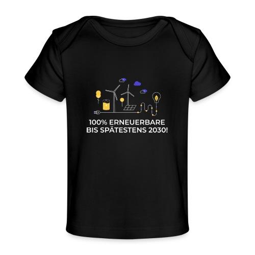 100% Erneuerbare bis spätestens 2030 weiß - Baby Bio-T-Shirt