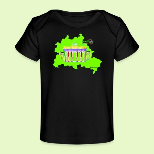 Berlin ist grün und bunt / BerlinLightShow - Baby Bio-T-Shirt