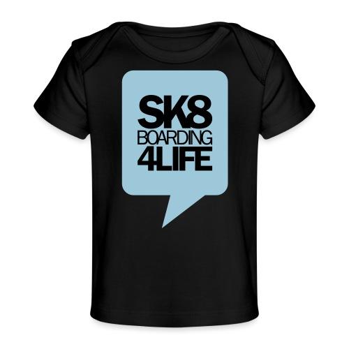 printhintenblau - Baby Bio-T-Shirt