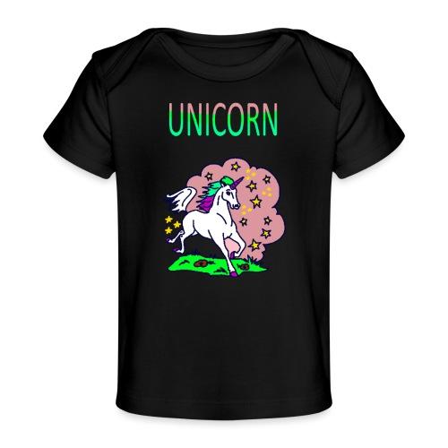 Einhorn unicorn - Baby Bio-T-Shirt
