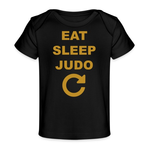Eat sleep Judo repeat - Ekologiczna koszulka dla niemowląt