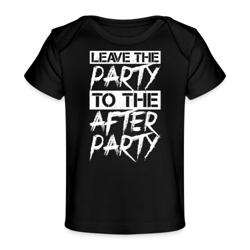AFTER PARTY WHITE - Baby bio-T-shirt