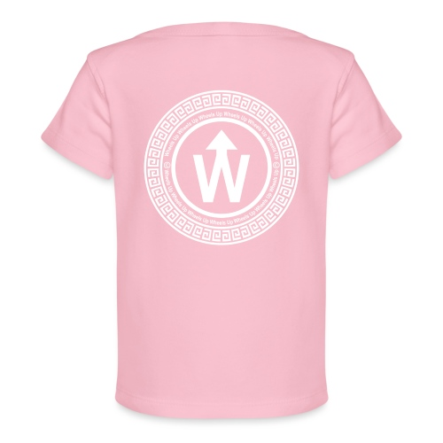 wit logo transparante achtergrond - Baby bio-T-shirt