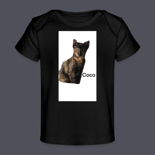 Coco the Kitten and inspirational quote Combined - Organic Baby T-Shirt