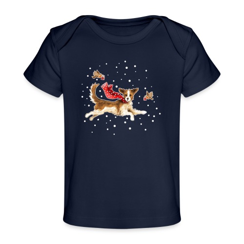 Suza met sneeuwvlokken - Organic Baby T-Shirt