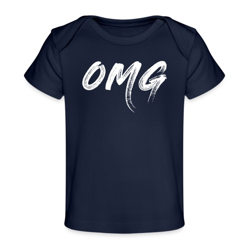 OMG, valkoinen - Vauvojen luomu-t-paita