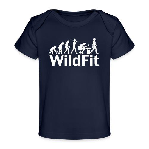 WildFit Logo Evolution Weiß - Baby Bio-T-Shirt