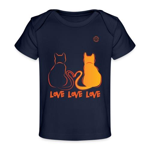 The Red Twins LOVE LOVE LOVE - Maglietta ecologica per neonato
