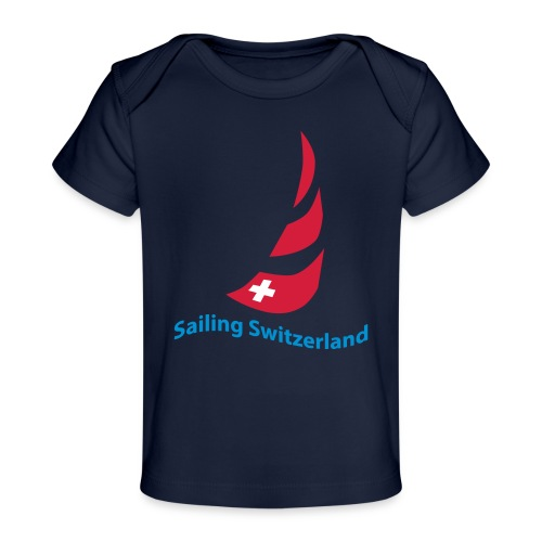 logo sailing switzerland - Baby Bio-T-Shirt
