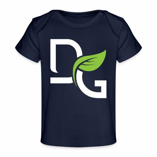 DrGreen Logo Symbol weiss grün - Baby Bio-T-Shirt