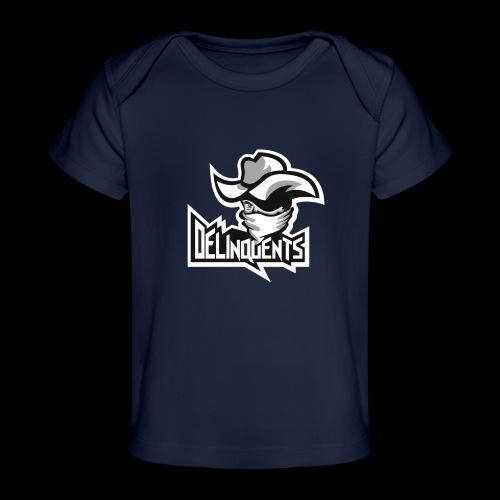 Delinquents Hvidt Design - Økologisk T-shirt til baby
