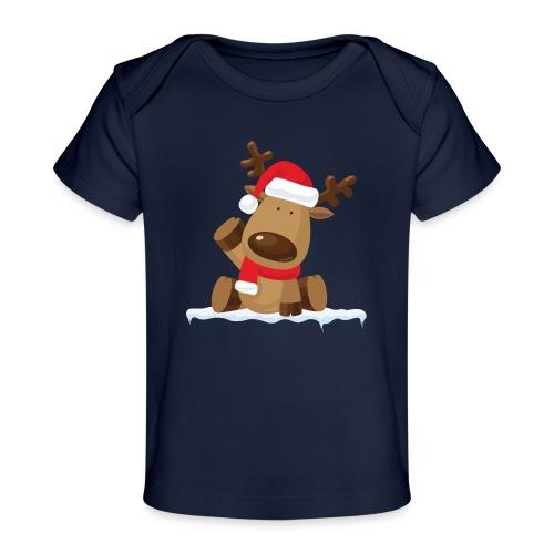 Reindeer on Ice - Baby Bio-T-Shirt