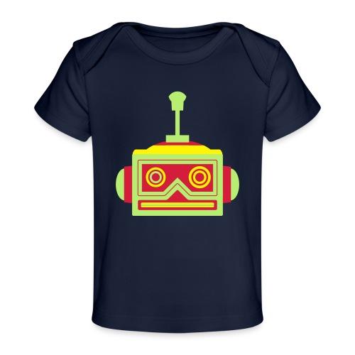 Robot head - Organic Baby T-Shirt