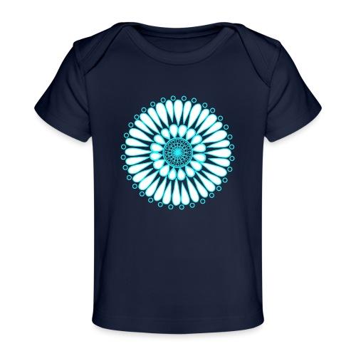 Ice Sunflower Mandala - Organic Baby T-Shirt