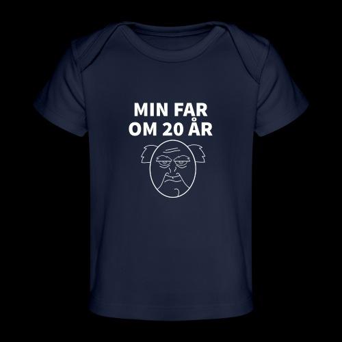 Min Far Om 20 År (Moto) - Økologisk T-shirt til baby