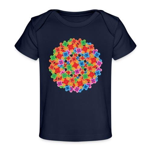 Flower mix - Økologisk T-shirt til baby