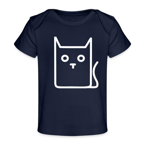 Katze Weiß - Baby Bio-T-Shirt