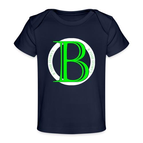 Wit Groen-logo - Baby bio-T-shirt