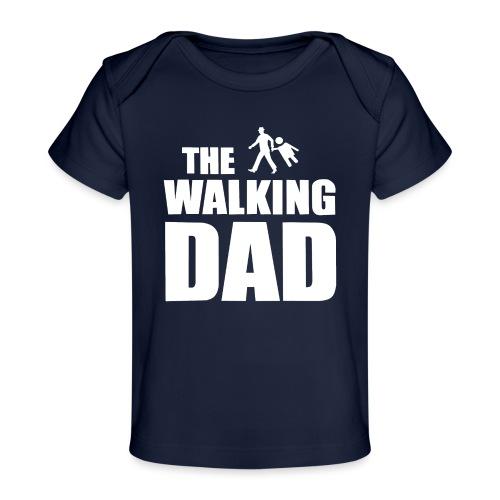 the walking dad weiss auf dem Weg in die lustige - Baby Bio-T-Shirt