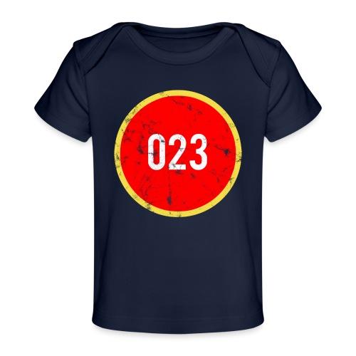 023 logo 2 washed regio Haarlem - Baby bio-T-shirt