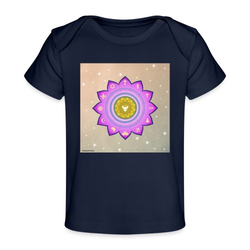 0 1 Dove Surrounded by Religious Symbols. - Organic Baby T-Shirt