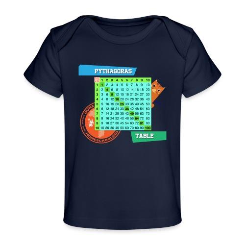Pythagoras table - Økologisk baby-T-skjorte