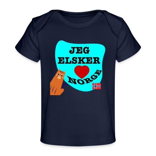 Jeg elsker Norge - Økologisk baby-T-skjorte