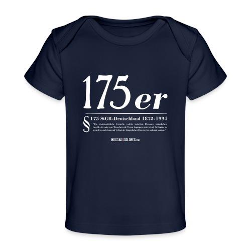 175 er. Protest. White. - Camiseta orgánica para bebé