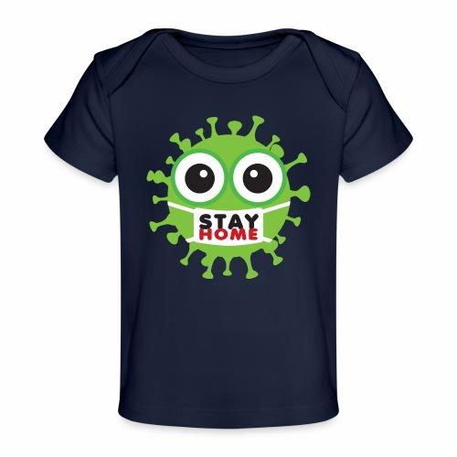 Stay at home, zostań w domu - Ekologiczna koszulka dla niemowląt