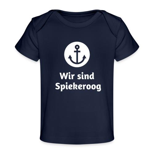 Wir sind Spiekeroog Logo weiss - Baby Bio-T-Shirt