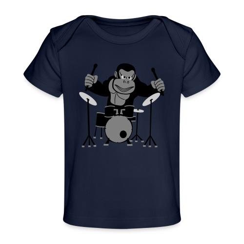 Drumming Gorilla - Organic Baby T-Shirt