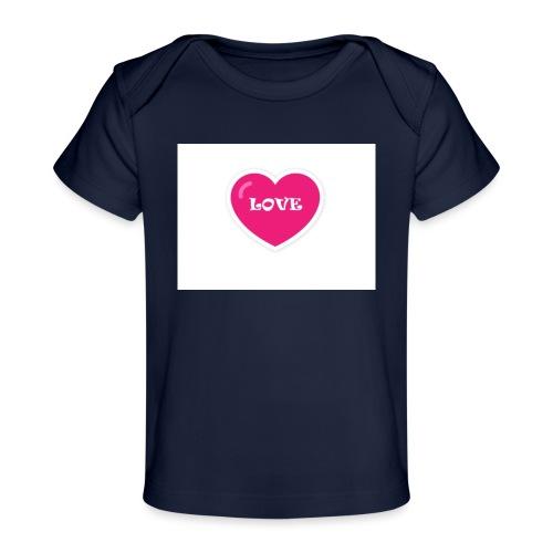 Spread shirt hjärta love - Ekologisk T-shirt baby