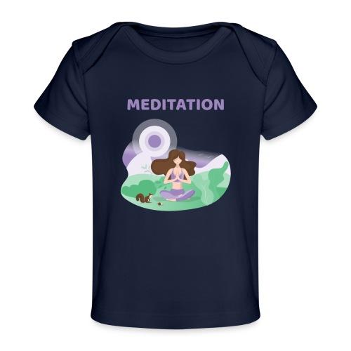 Yoga Meditation - Maglietta ecologica per neonato