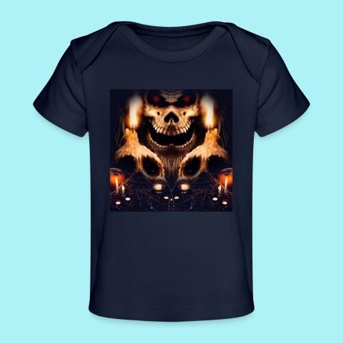 Tête de mort à la chandelle - T-shirt bio Bébé