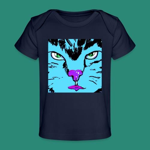 Der blaue Kater - Baby Bio-T-Shirt