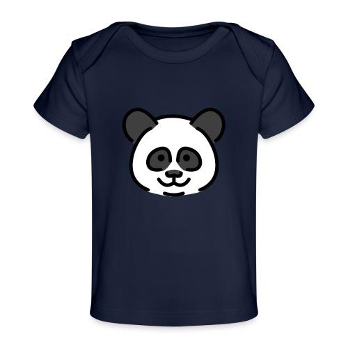 panda head / cabeza de panda - Camiseta orgánica para bebé